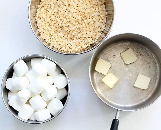 brown butter rice krispie treats recipe -- ingredients