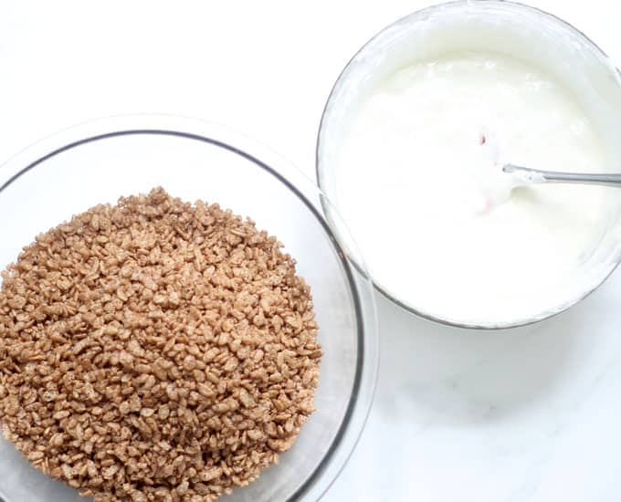 ingredients for cocoa Rice Krispie Treats recipe