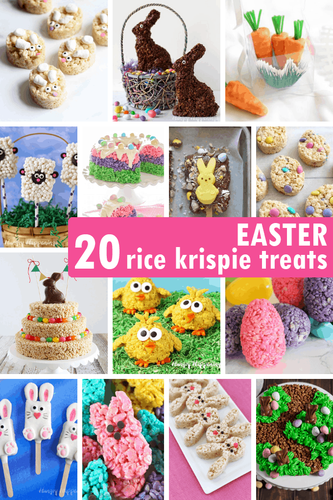 A roundup of 20 EASTER RICE KRISPIE TREATS
