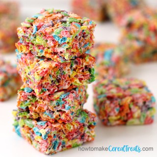 Fruity Pebbles Rice Krispie Treats Recipe image