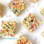 Cake Batter Funfetti Rice Krispie Treats recipe image