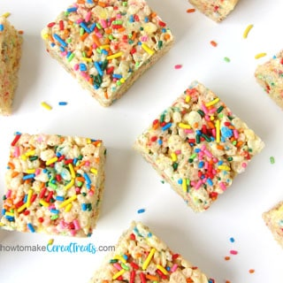 Cake Batter Funfetti Rice Krispie Treats recipe image