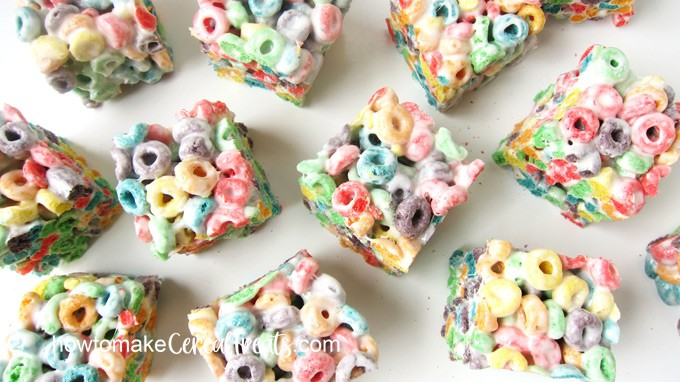 overhead view of Fruit Loop Treats
