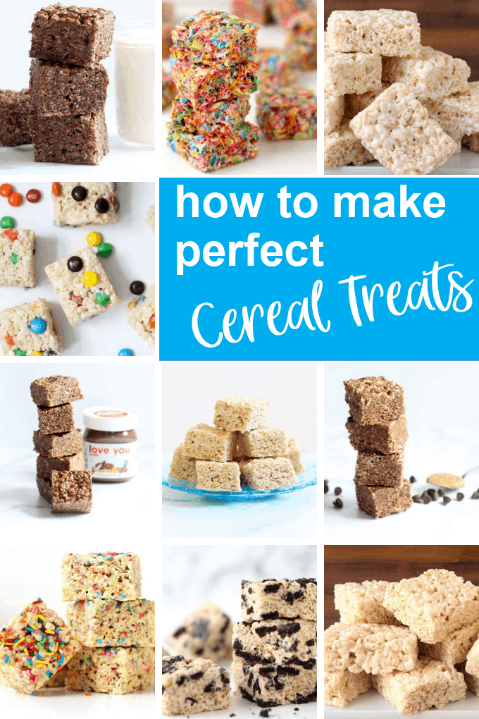 collage of Rice Krispie Treats