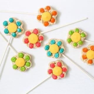 Rice Krispie Treat Flower Recipe Image
