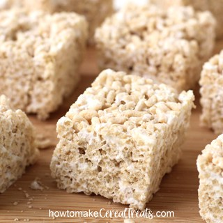 vegan cereal treats recipe image