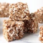 chocolate marshmallow vegan cereal treats