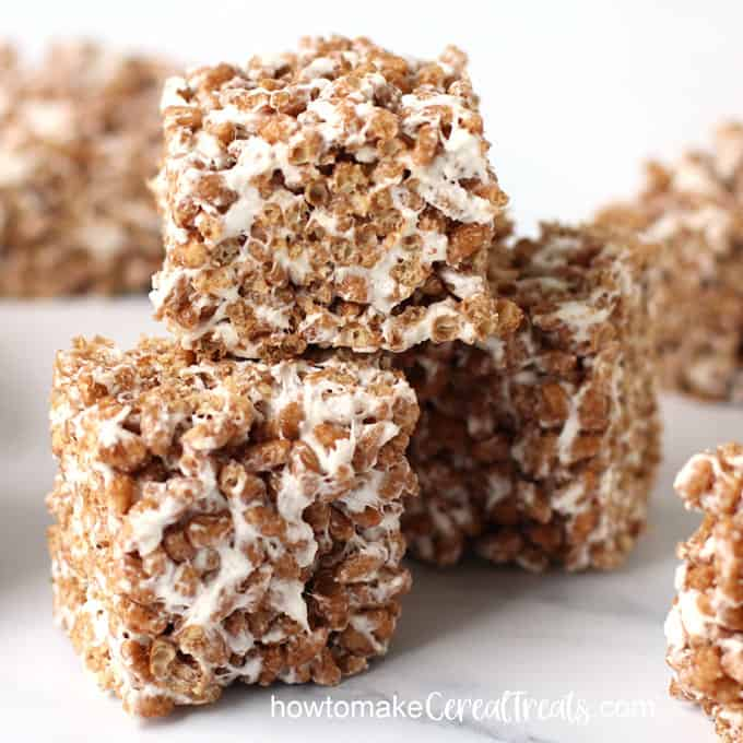 chocolate marshmallow vegan cereal treats
