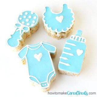 baby shower rice krispie treats recipe