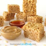 peanut butter and honey rice krispie treats recipe image