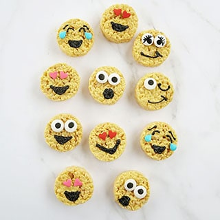 emoji rice krispie treat recipe image
