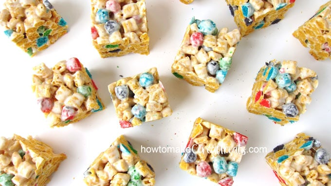 Captain Crunch Berries rice krispie treats recipe image