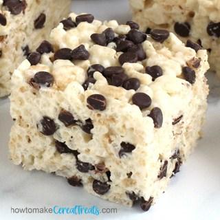 chocolate chip rice crispy square