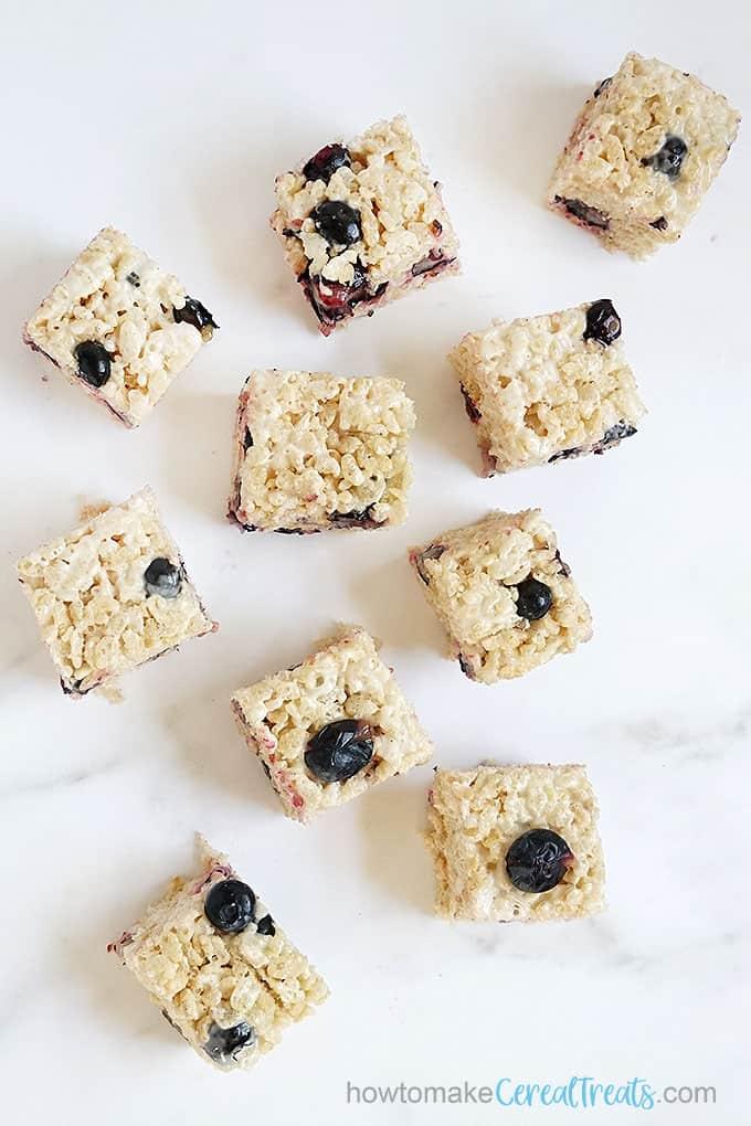 blueberry Rice Krispie Treats