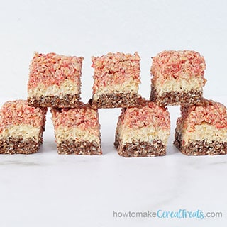 neapolitan rice krispie treats