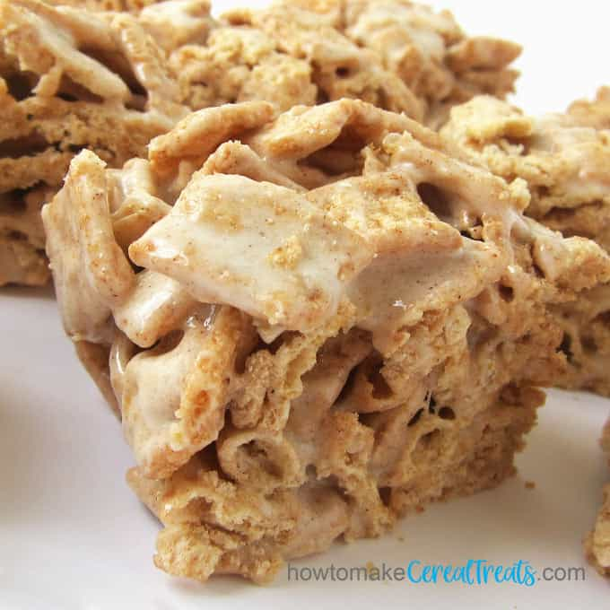 crispy and chewy Cinnamon Toast Crunch Cereal cereal bars are loaded with gooey marshmallows