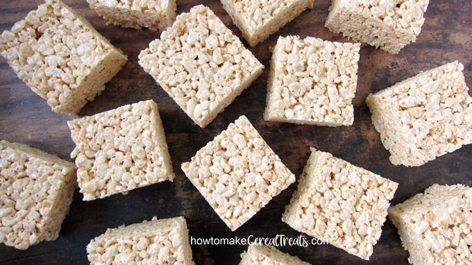 rice krispie treats can be made using marshmallow creme