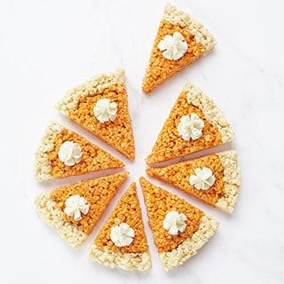 pumpkin pie rice krispie treats recipe image