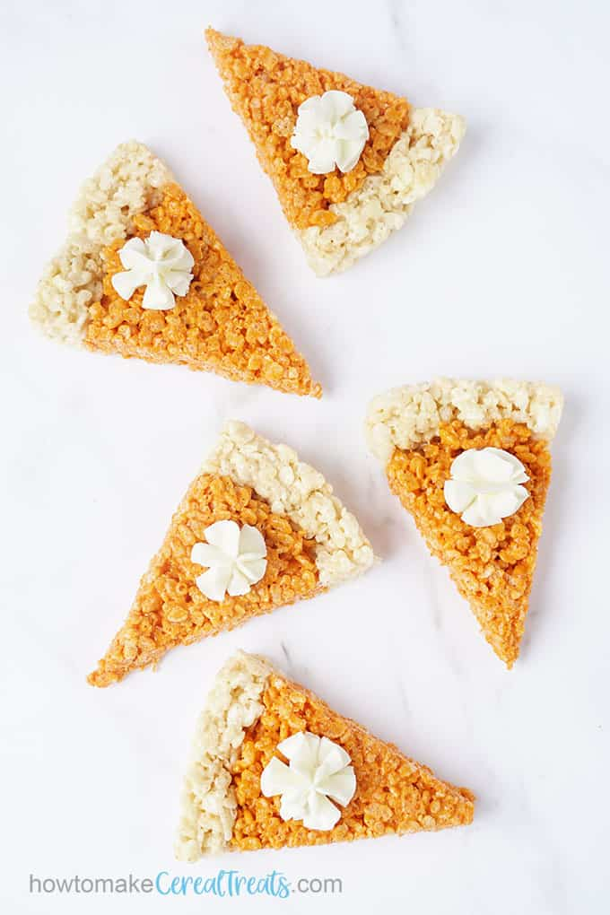 how to make pumpkin pie cereal treats for Thanksgiving