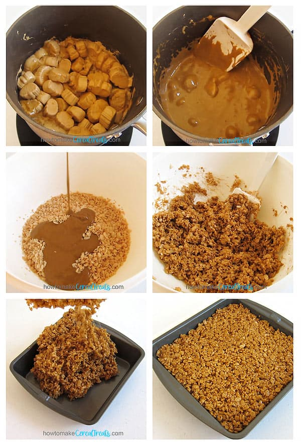 melt pumpkin spice marshmallows and butter then mix with rice crispy cereal and spread into a greased pan