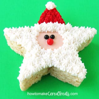 Santa Rice Krispie Treat recipe featured image