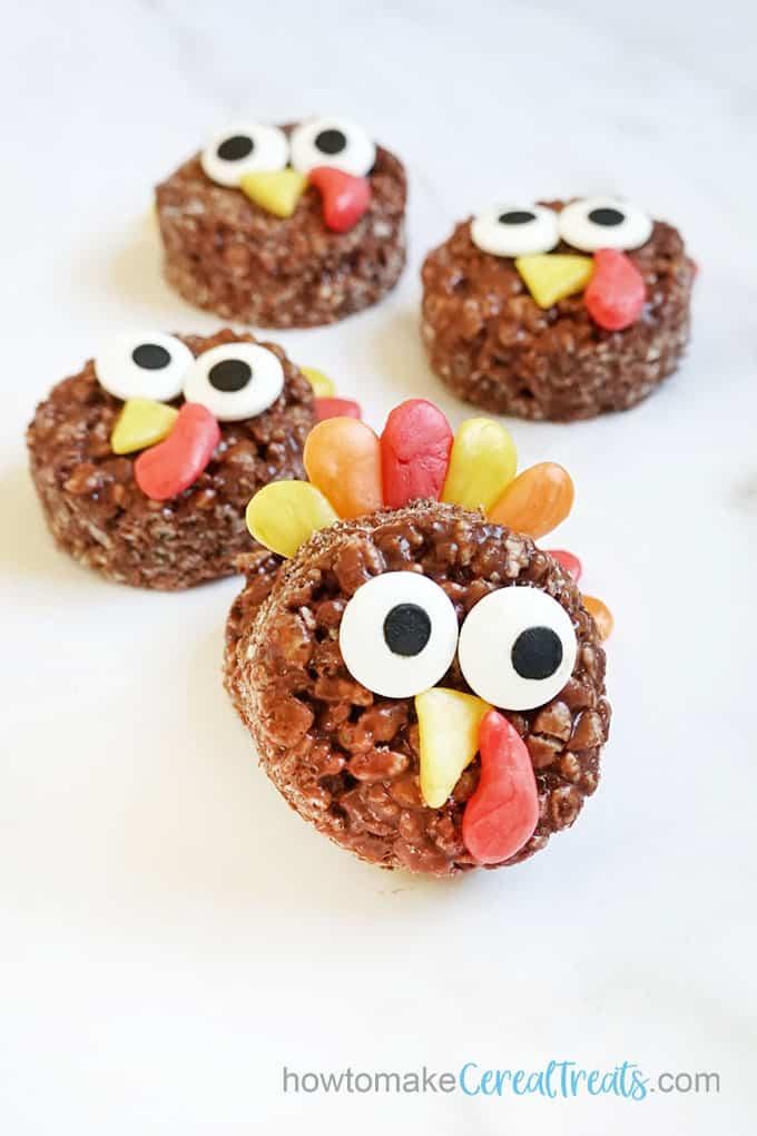 turkey Rice krispie treat for Thanksgiving