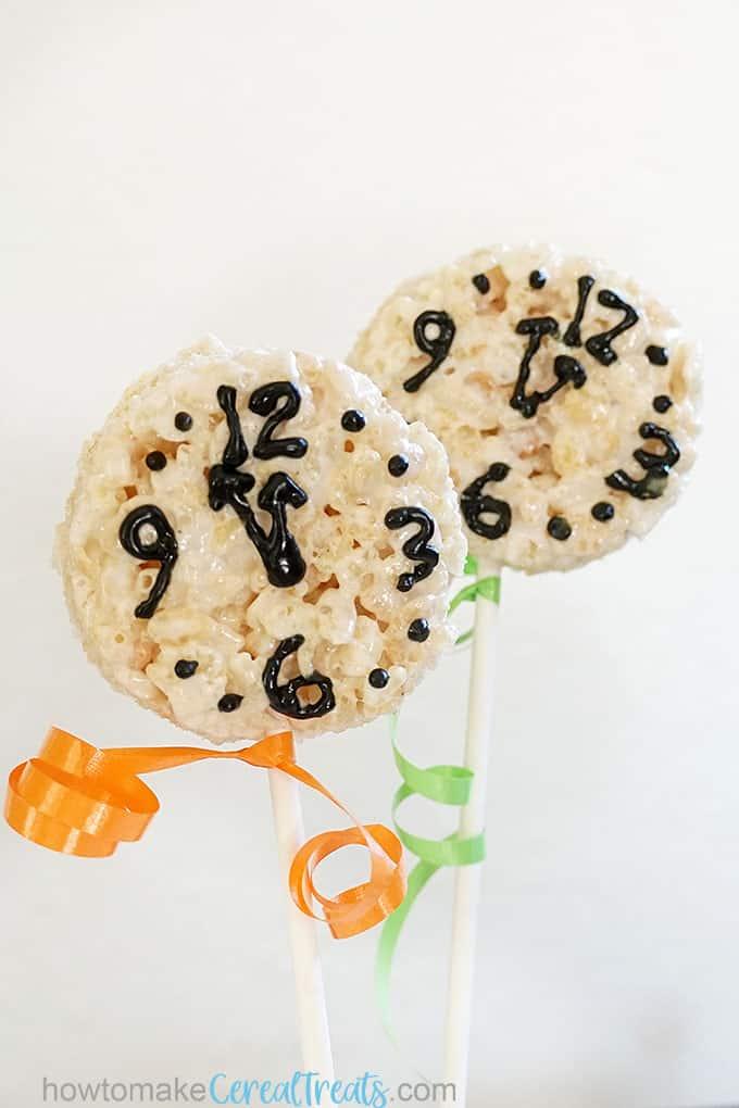 New Year's Eve Rice Krispie treats