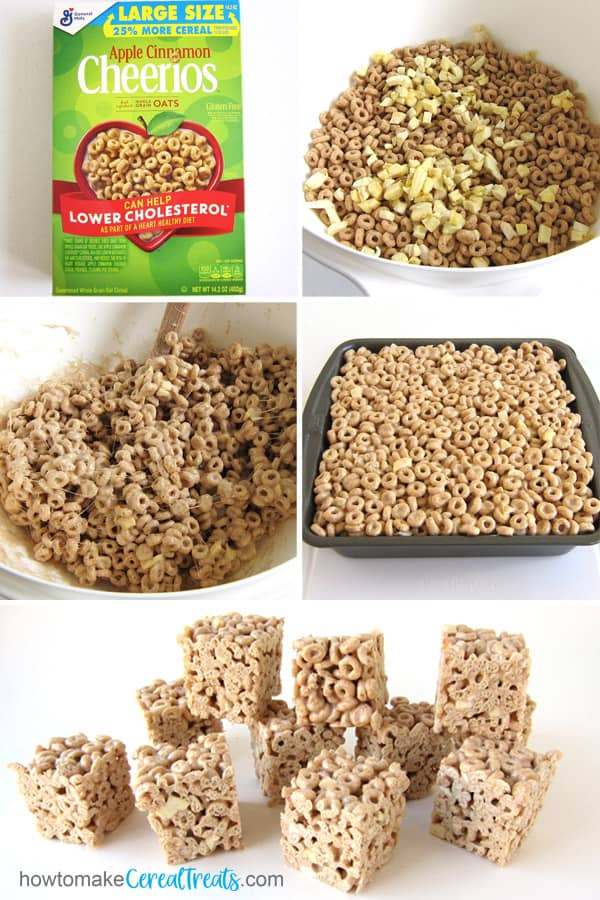 Use Apple Cinnamon Cheerios and dried apples to make cereal bars.
