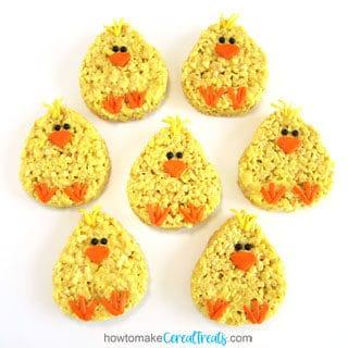 Rice Krispie Treat Chicks Easter Recipe