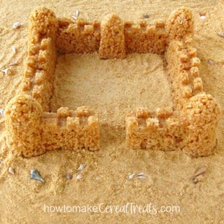 Rice Krispie Treat Sandcastle
