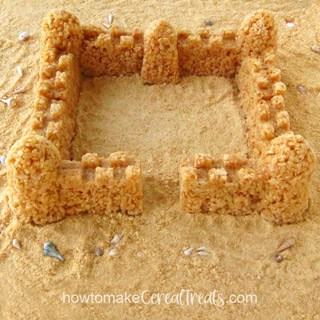 Rice Krispie Treat Sandcastle